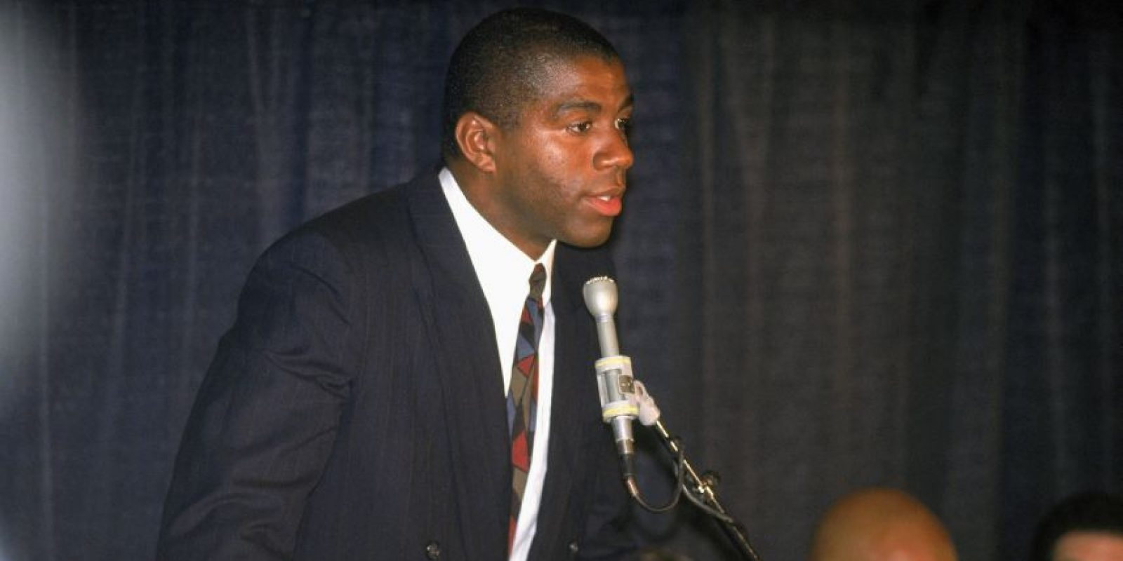 El momento del anuncio de Magic Johnson Foto: Getty Images