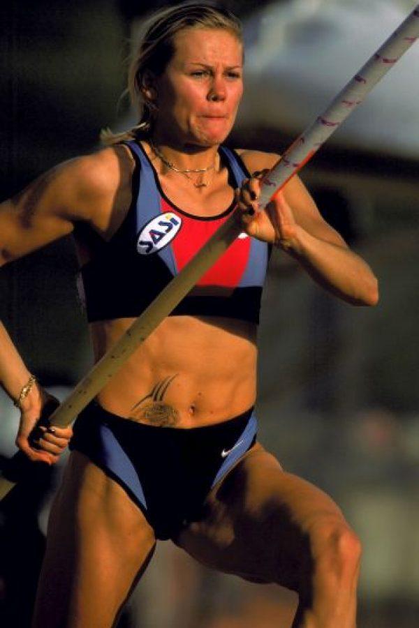 Grigorieva tiene un tatuaje en el abdomen. Foto:Getty Images