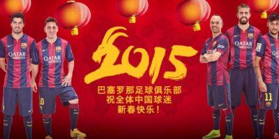"""VIDEO. Los jugadores del Barcelona celebran la llegada del """"Año de la Cabra"""" a China"""