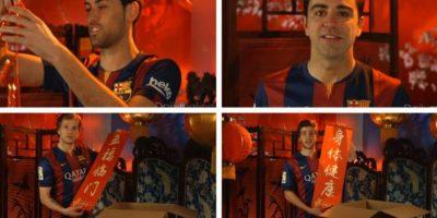 Varios de los miembros del club culé hablaron en mandarín en el video. Foto:FC Barcelona