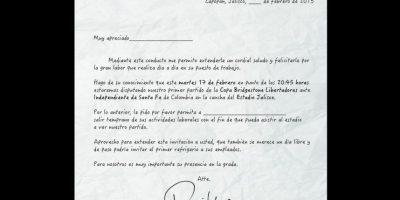 Atlas redactó una carta para que sus hinchas la presenten a sus jefes Foto:Twitter: @atlasfc