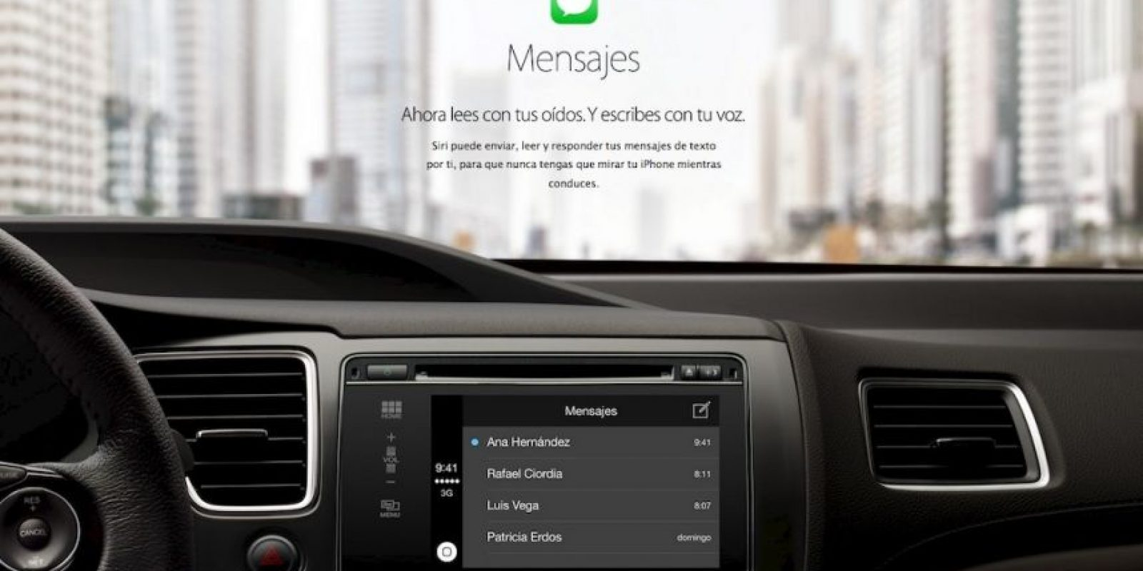 Mandar mensajes es sencillo con el reconocimiento de voz con Siri. Foto:Apple