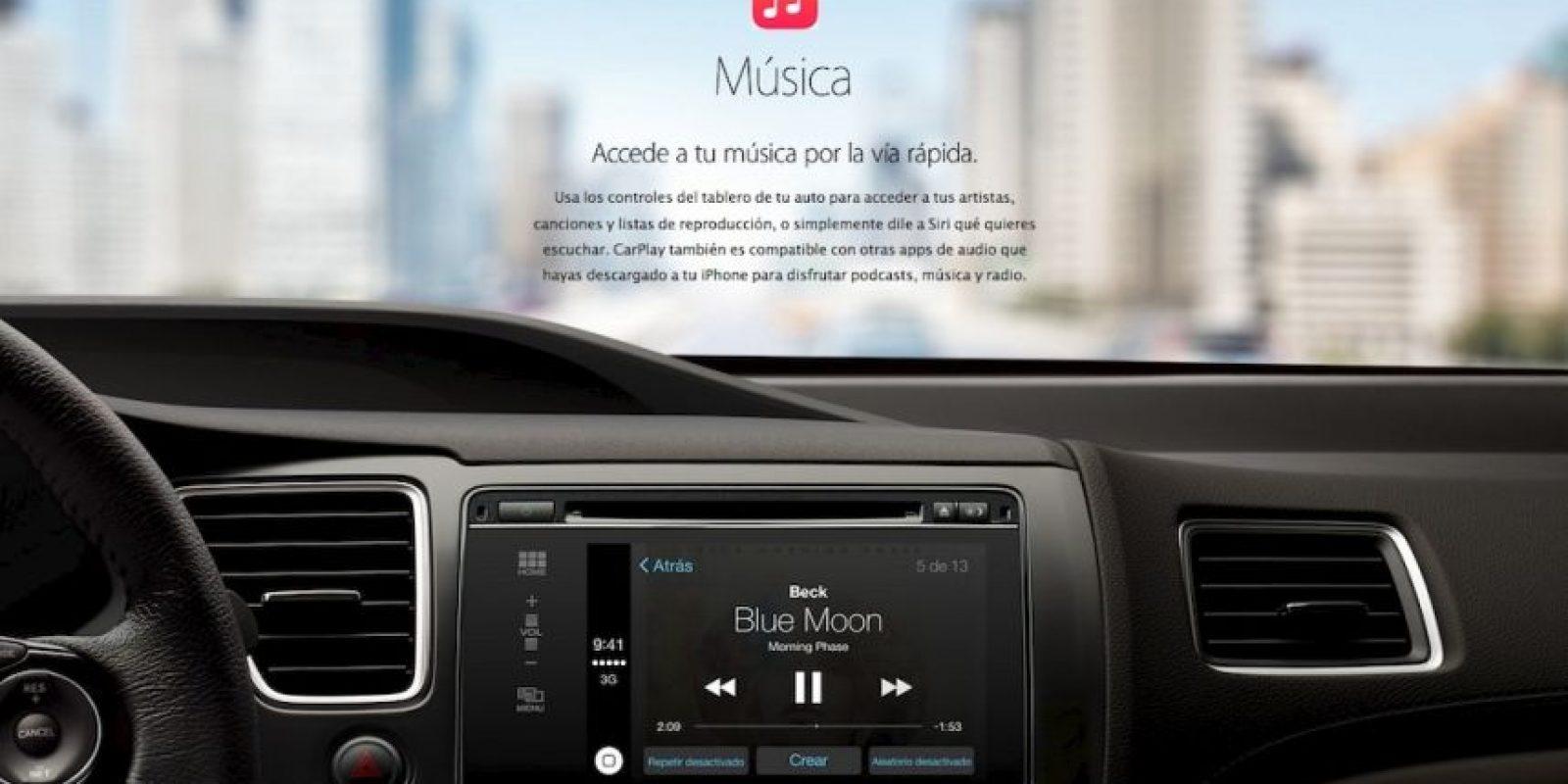 El soundtrack para su viaje en su automóvil. Foto:Apple