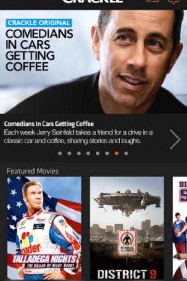 Crakle: Es una plataforma de contenidos en streaming para ver películas, entre otras cosas más. Foto:Crakle