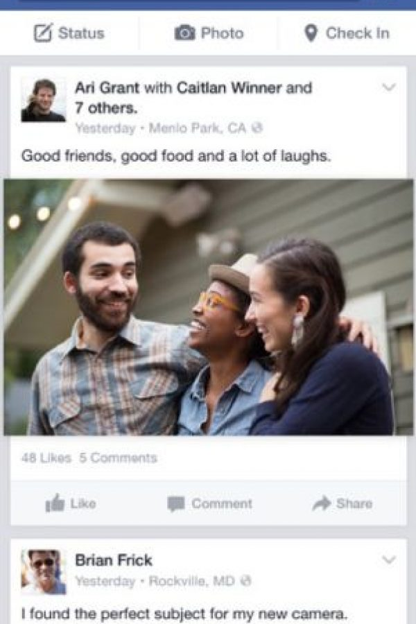 Facebook: La red social más popular de la actualidad permite publicar fotografías, videos y actualizaciones de estado. Foto:Facebook