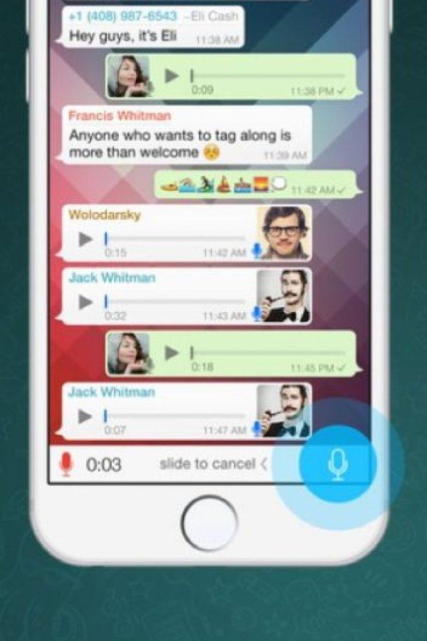 WhatsApp: Se trata de un servicio de mensajería móvil en el que se puede enviar texto, fotos, audio, entre otras cosas a través de Internet. Foto:WhatsApp