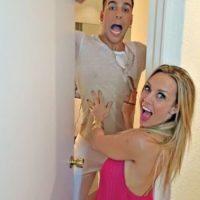 Fey junto a su ex novio, Lenny de la Rosa Foto:Bailando por un sueño