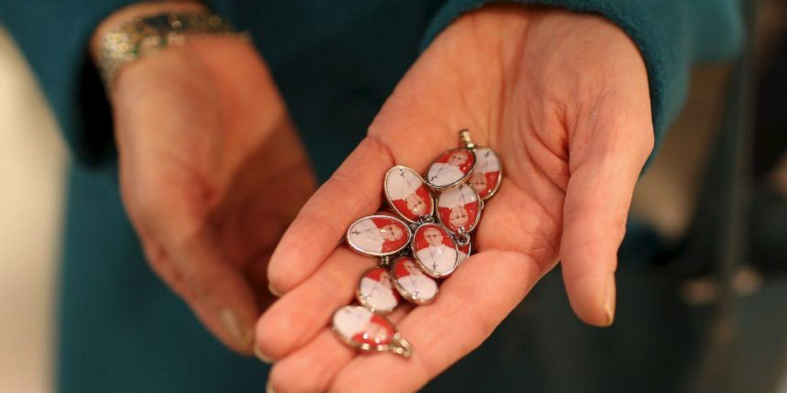 También su rostro se encuentra en medallitas. Foto:Getty Images