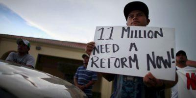 1. La medida beneficiaría a cinco millones de inmigrantes que entraron al país de forma ilegal. Foto:Getty