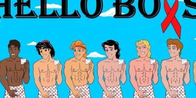 """En su blog """"HumorChic"""", el ilustrador italiano aleXsandro Palombo utilizó a los Príncipes de Disney para promover el uso del condón Foto:aleXsandro Palombo"""