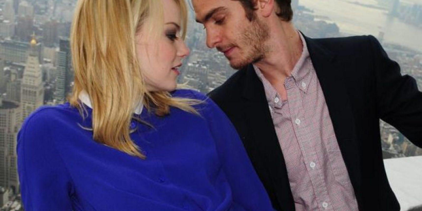 Emma Stone y Andrew Garfield Foto:Agencias