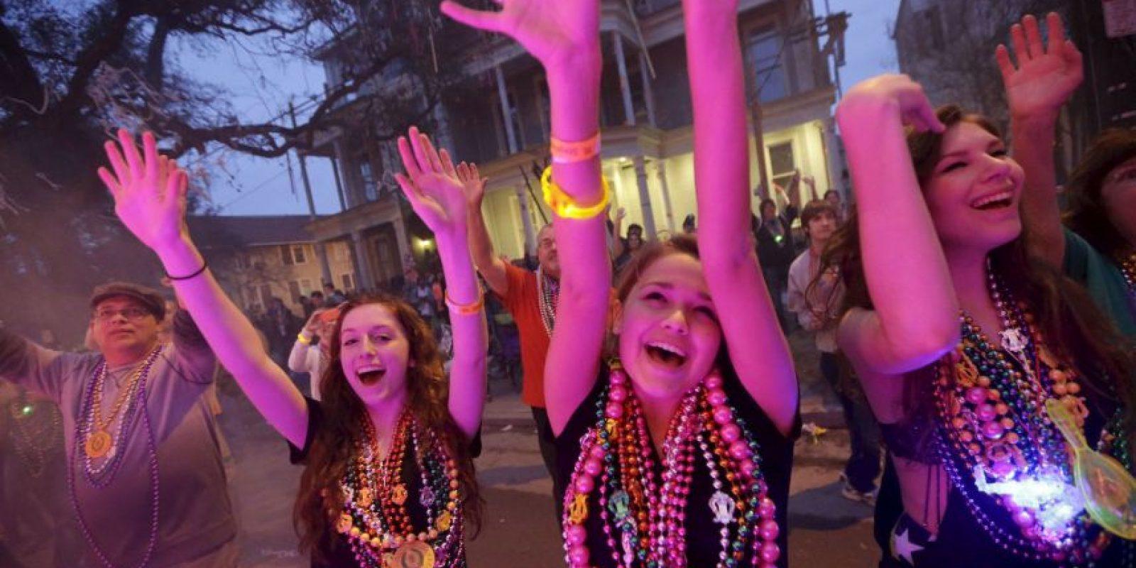 Mardi Gras se refiere a Fat Tuesday, el último día de fiesta antes del Miércoles de Ceniza, comienza cuando la Cuaresma. Foto:AP