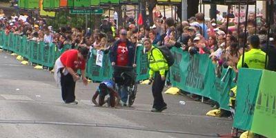Hyvon Ngetich no resistió la exigencia física de la prueba de 42 kilómetros en Austin. Foto:Publinews