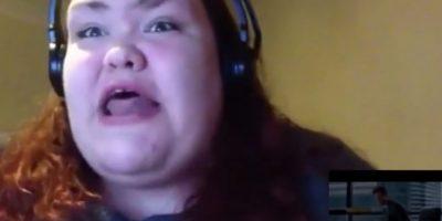 """Ella posteó un video de su desenfrenada reacción ante el tráiler de """"50 sombras de Grey"""" Foto:Nutty Madam/Youtube"""