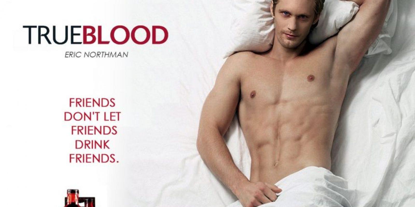 """Alexander Skaarsgard es Erick Northman, vampiro vikingo en """"True Blood"""" Foto:HBO"""