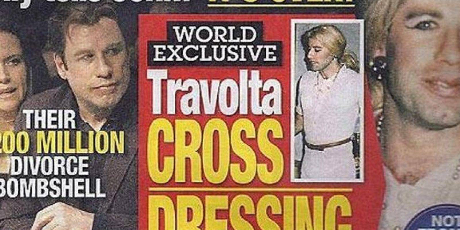 """También en 2012, el diario """"National Enquirer"""" publicó una serie de fotografías del actor vestido como mujer."""