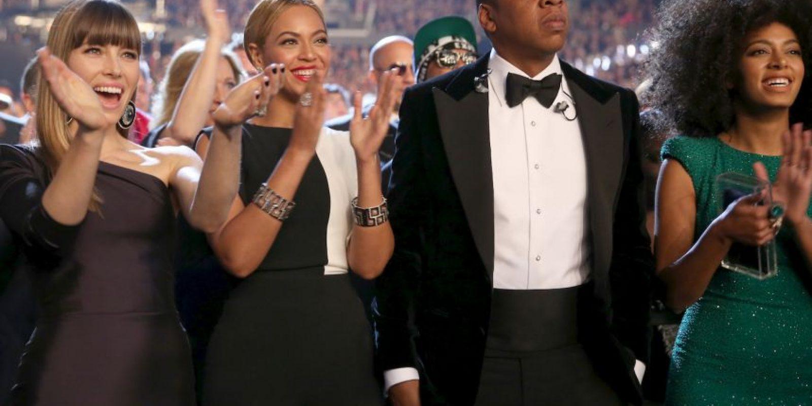 El 4 de abril de 2008, la pareja dio el sí en una boda supersecreta frente a un estrecho círculo de 40 amigos y familiares en el penthouse de Jay Z. Entre los invitados se encontraban sus buenos amigos Gwyneth Paltrow y Chris Martin Foto:Getty Images
