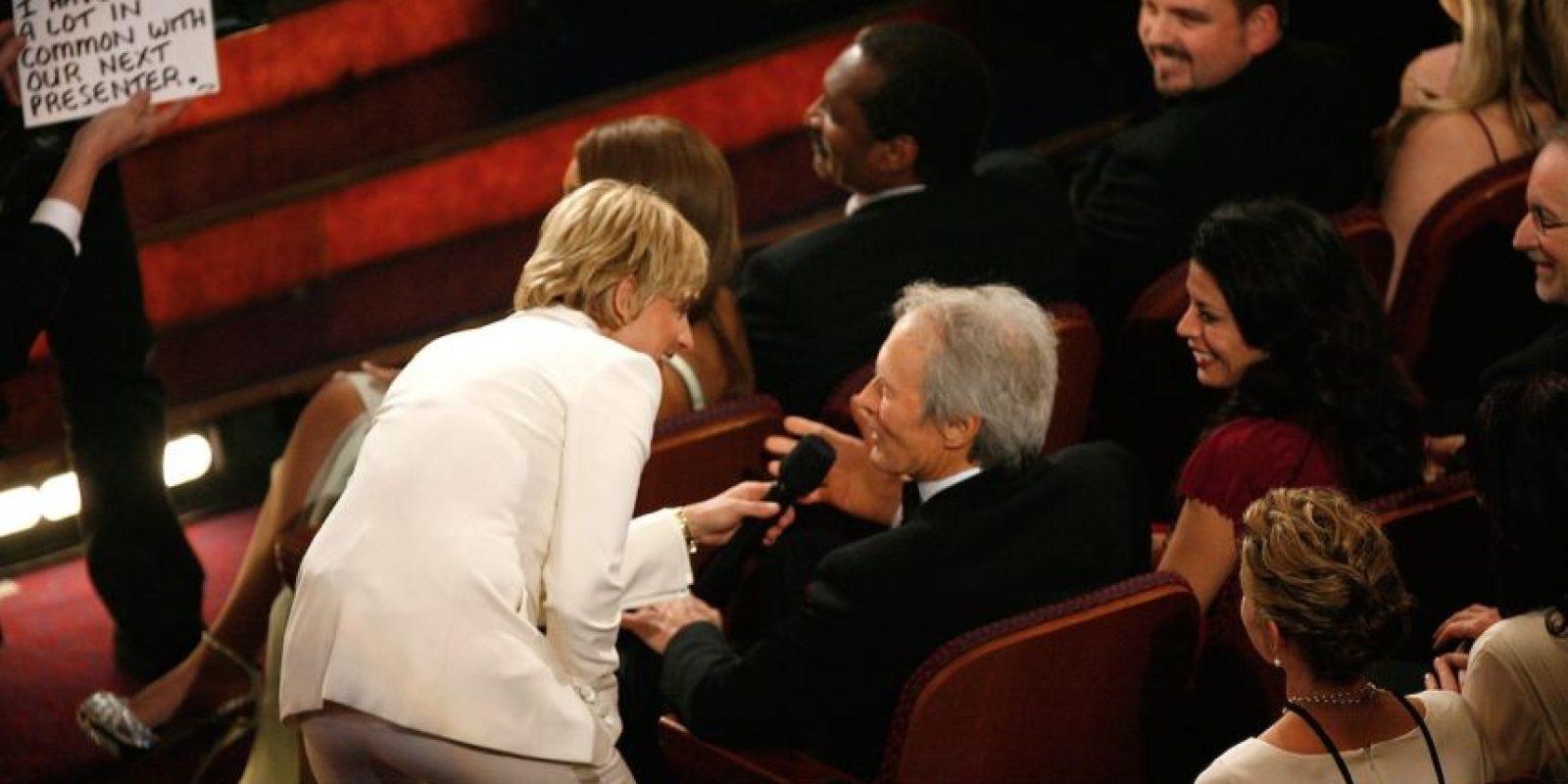 Ellen DeGeneres y Clint Eastwood Foto:Getty Images