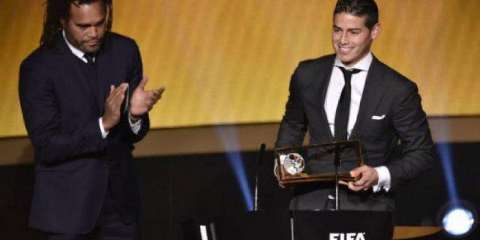 James ganó el Premios Puskas al mejor gol del Mundial. Foto:Getty Images
