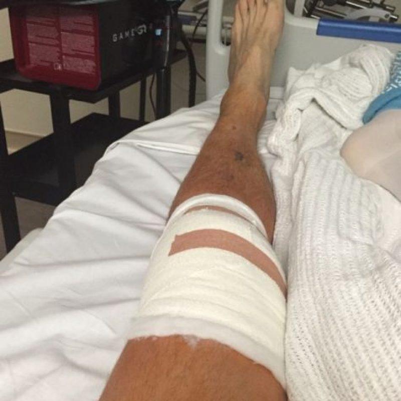 La foto de Carrroll en el hospital. Foto:instagram.com/andytcarroll