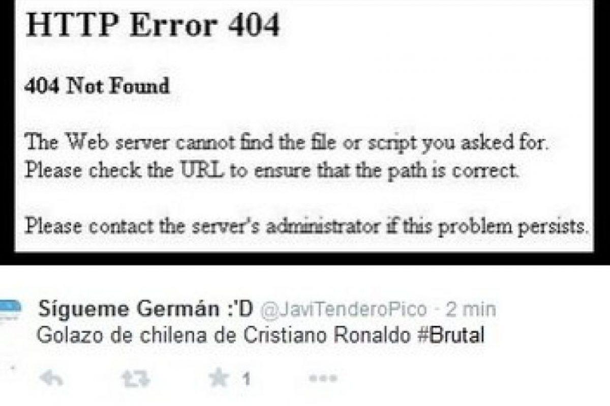 El luso falló una chilena y los usuarios de las redes sociales no lo perdonaron Foto:Twitter