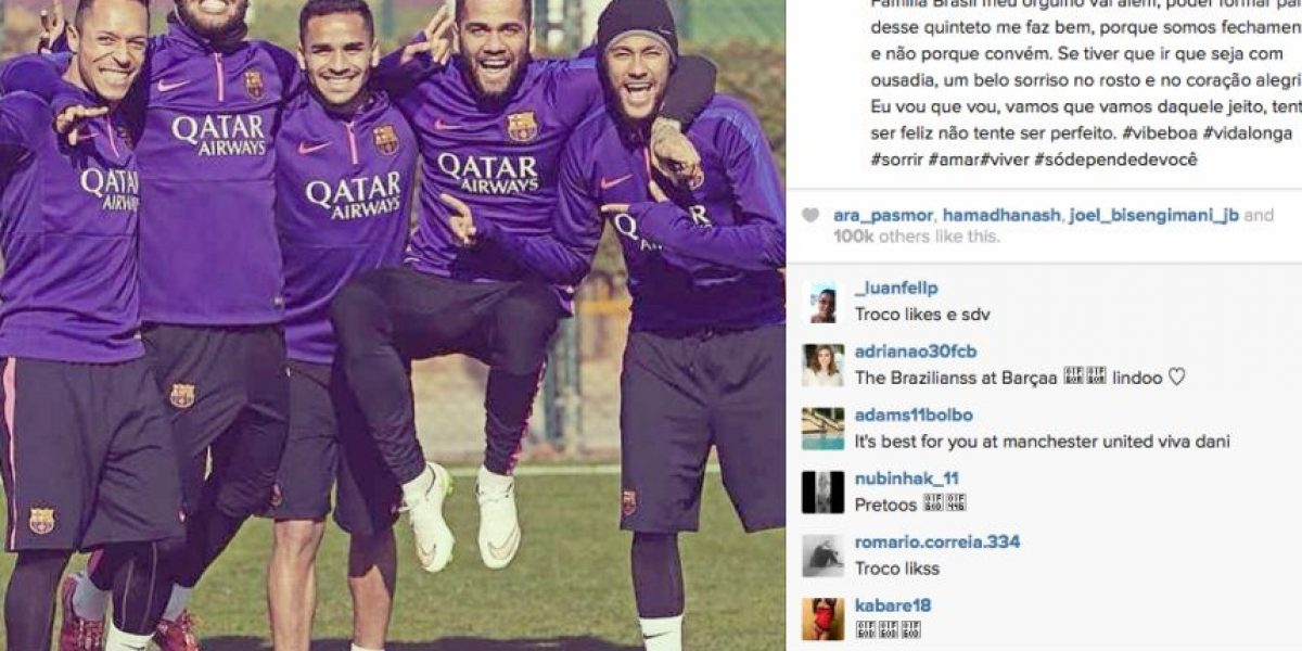 Dani Alves deja entrever en Instagram que se irá del Barcelona