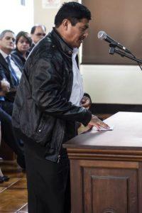 El alcalde de San Miguel Ixtahuacan, San Marcos, José Mejía López. Foto:Oliver de Ros