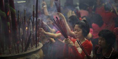 La entrada del Año Nuevo Lunar es una de las celebraciones más esperadas por los chinos. Foto:AP