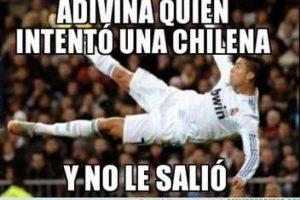 El luso falló una chilena y los usuarios de las redes sociales no lo perdonaron Foto:Memedeportes