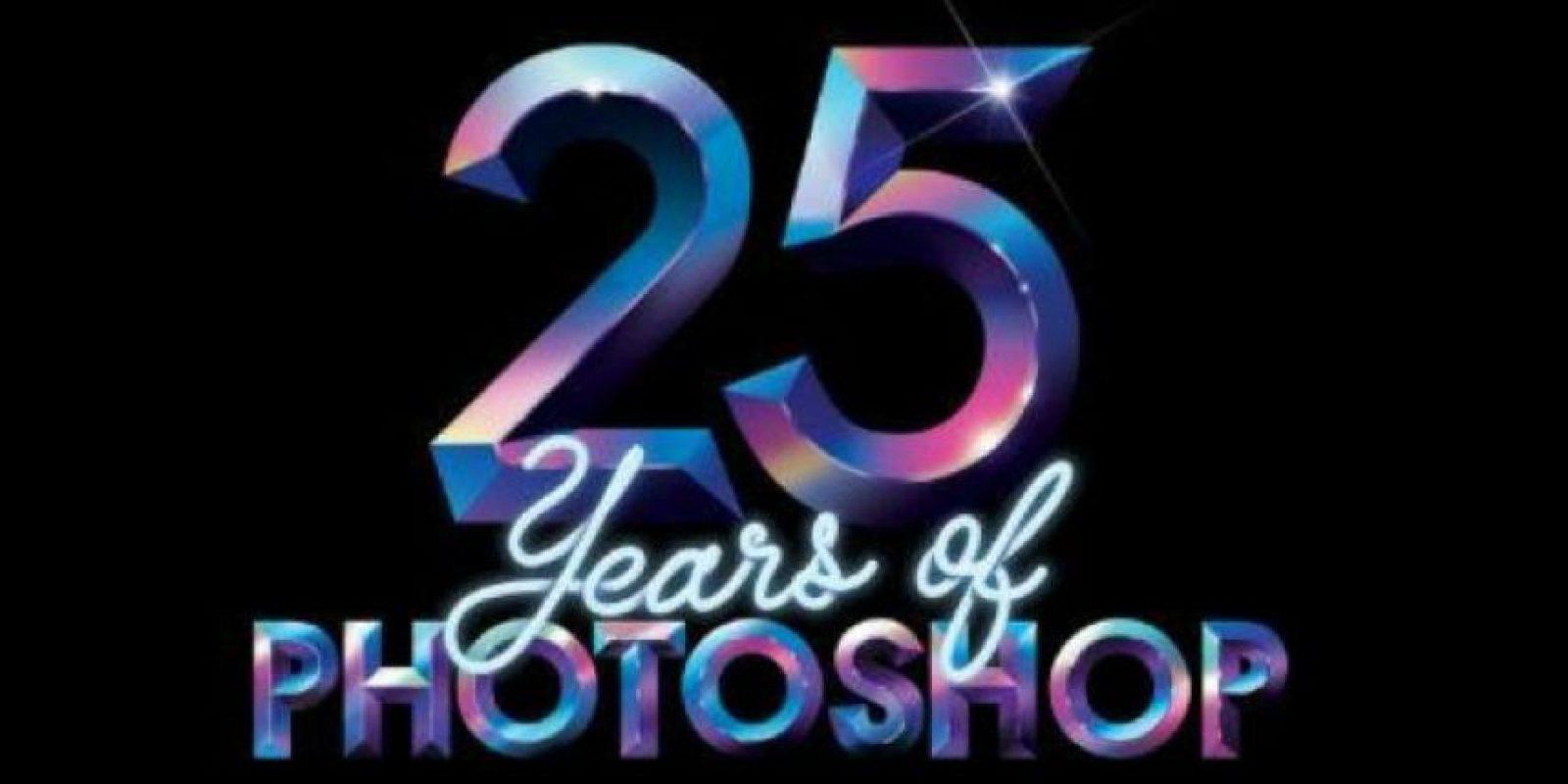 Photoshop cumple este jueves 25 años de estar disponible. Foto:Adobe