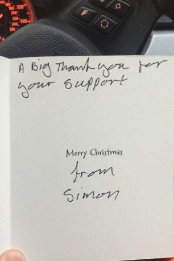 Este le agradeció con una tarjeta de Navidad. Foto:Twitter