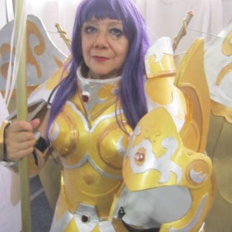 """Roxy, como Atenea, de """"Caballeros del Zodiaco"""" Foto:Rosy Durán/Facebook"""