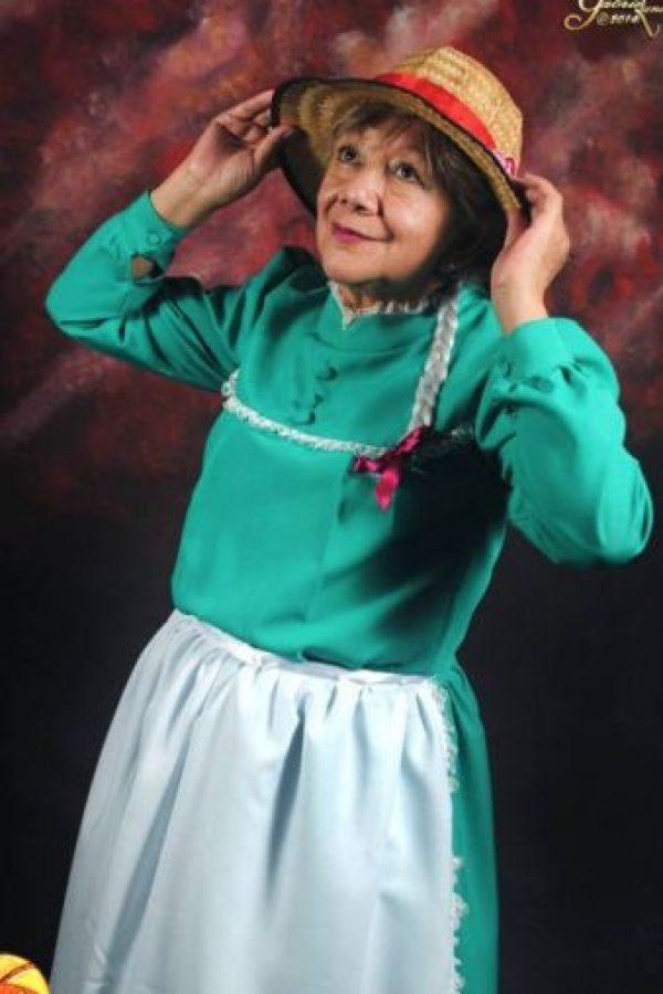 """Aquí, como Sophie, de """"El Increible Castillo Vagabundo"""". Foto:Rosy Durán/Facebook"""
