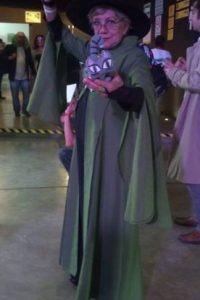 """Rosy interpretando a Minerva McGonagall, de """"Harry Potter"""" Foto:Rosy Durán/Facebook"""