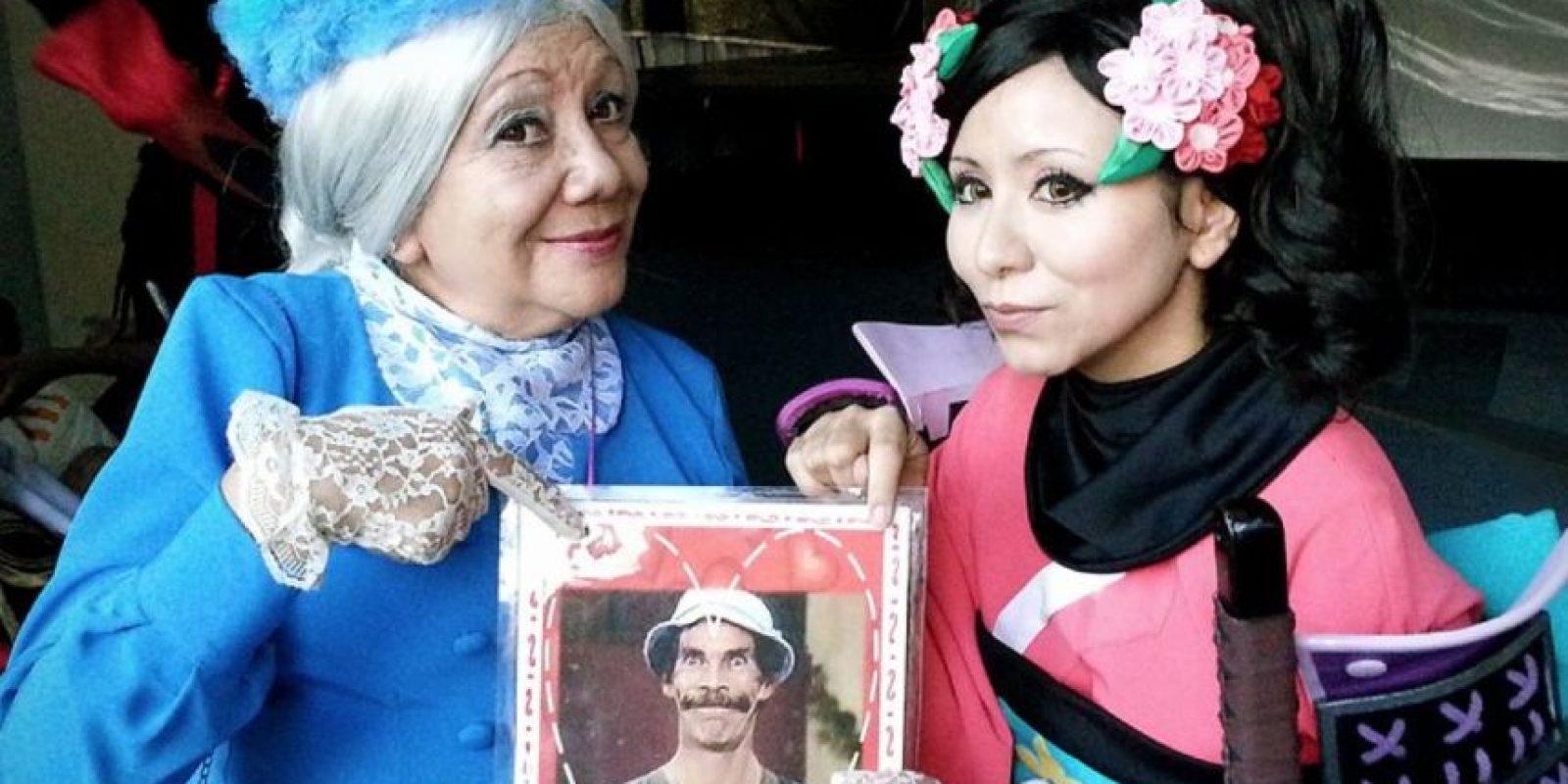 """Aquí, Rosy como """"La Bruja del 71"""". Foto:Rosy Durán/Facebook"""