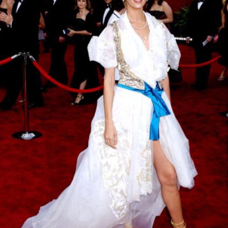 Uma Thurman viéndose como la lecherita sexy que no es. Foto:Getty Images