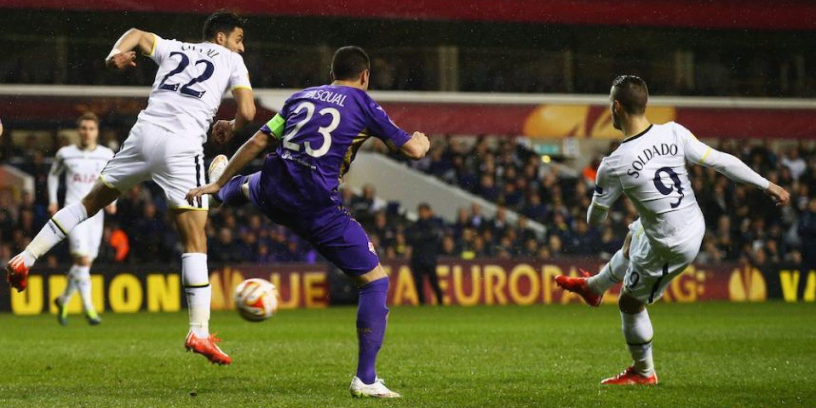Soldado anotó a los seis minutos en la UEFA Europa League. Foto:Getty Images