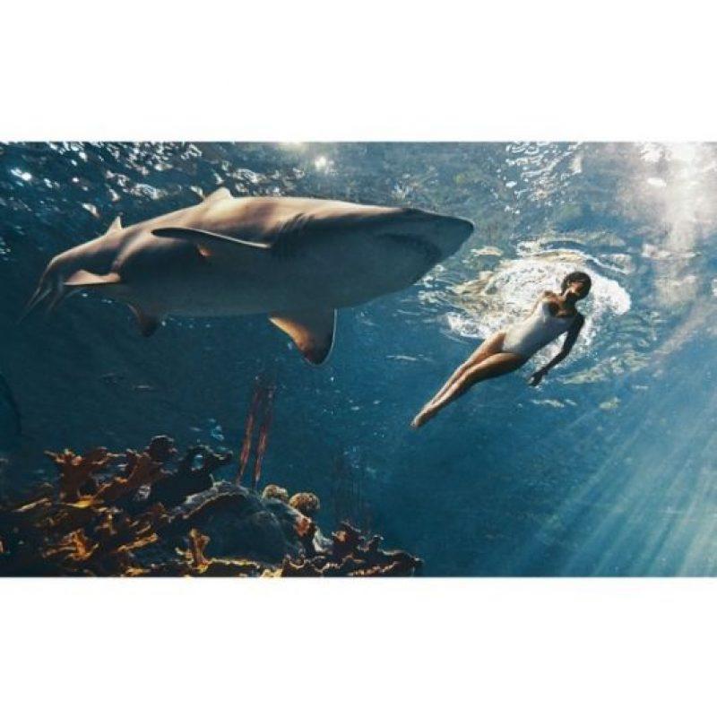 """Aunque, según la revista """"Harper Bazaar"""", cuando la cantante salió del agua no podía dejar de temblar. Foto:Instagram/badgalriri"""