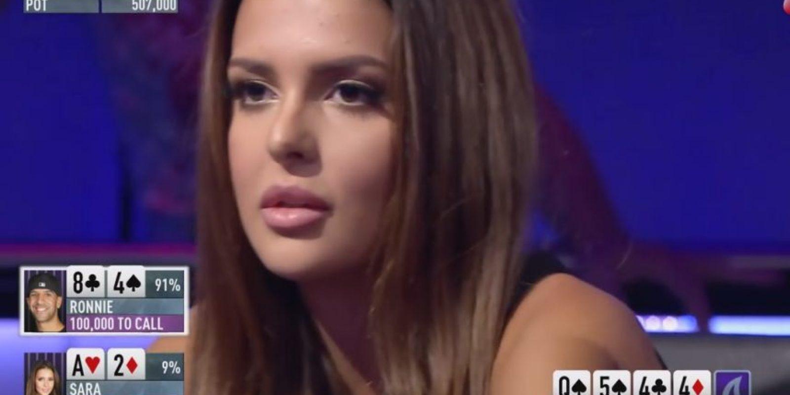 Sara Chafak le ganó la partida al reconocido Ronnie Bardah Foto:Youtube: PokerStars
