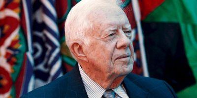Expresidente Jimmy Carter: Afirmó haber visto un OVNI cuando era gobernador de Georgia, en 1969. Luego trató de desmentirlo antes de morir. Foto:Getty Images