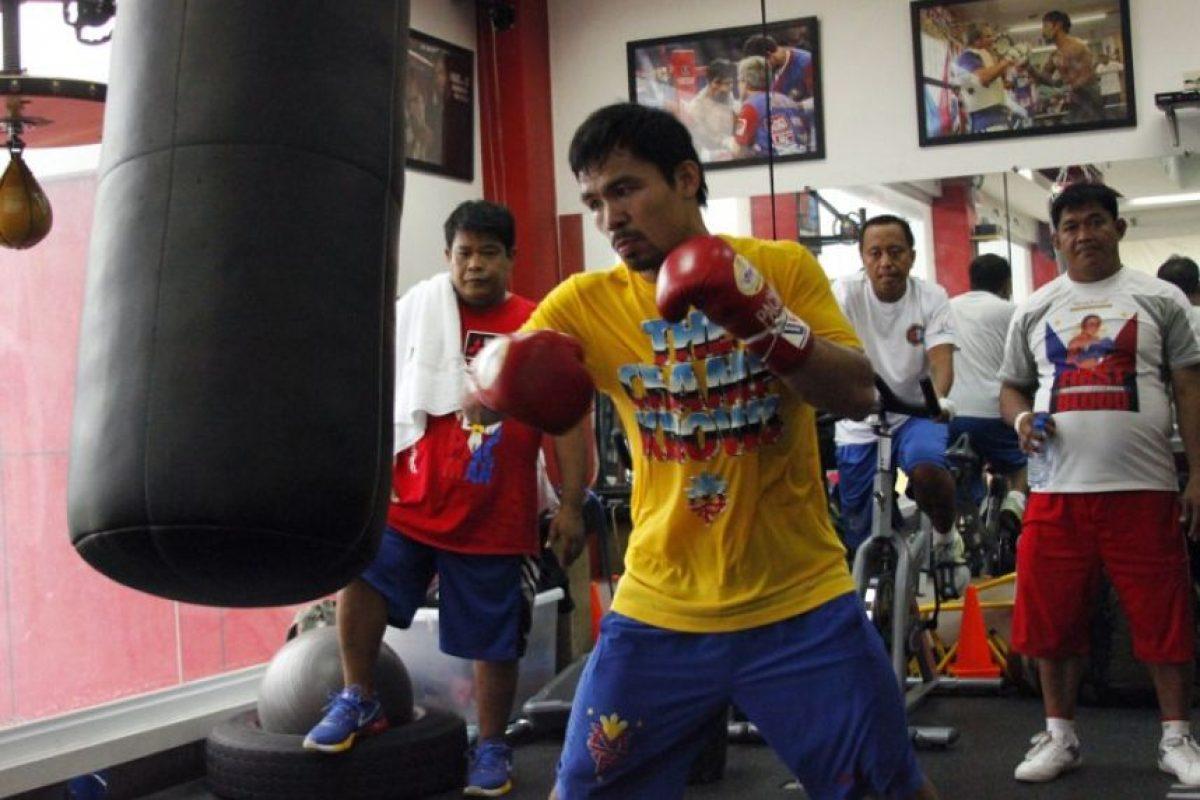 La esperada pelea entre el filipino y el estadounidense será el 2 de mayo. Foto:AFP