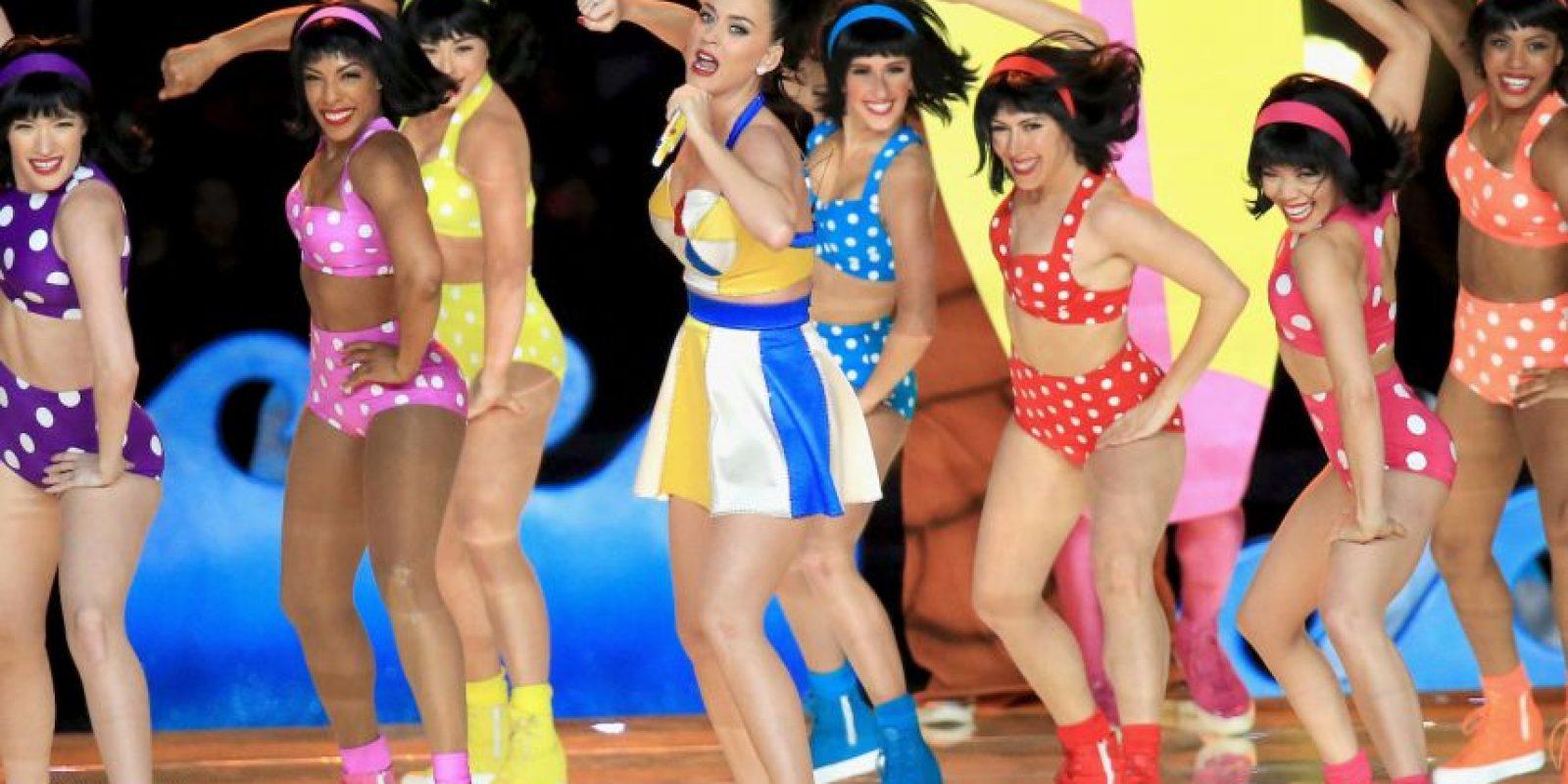 Durante el show de medio tiempo del Superbowl XLIX Foto:Getty Images