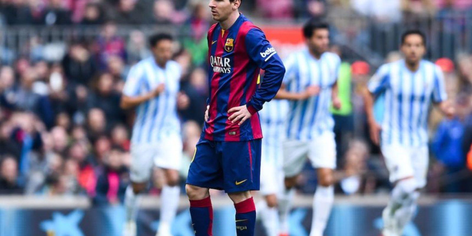 Leo no creía que a los siete minutos ya estuvieran perdiendo. Foto:Getty Images