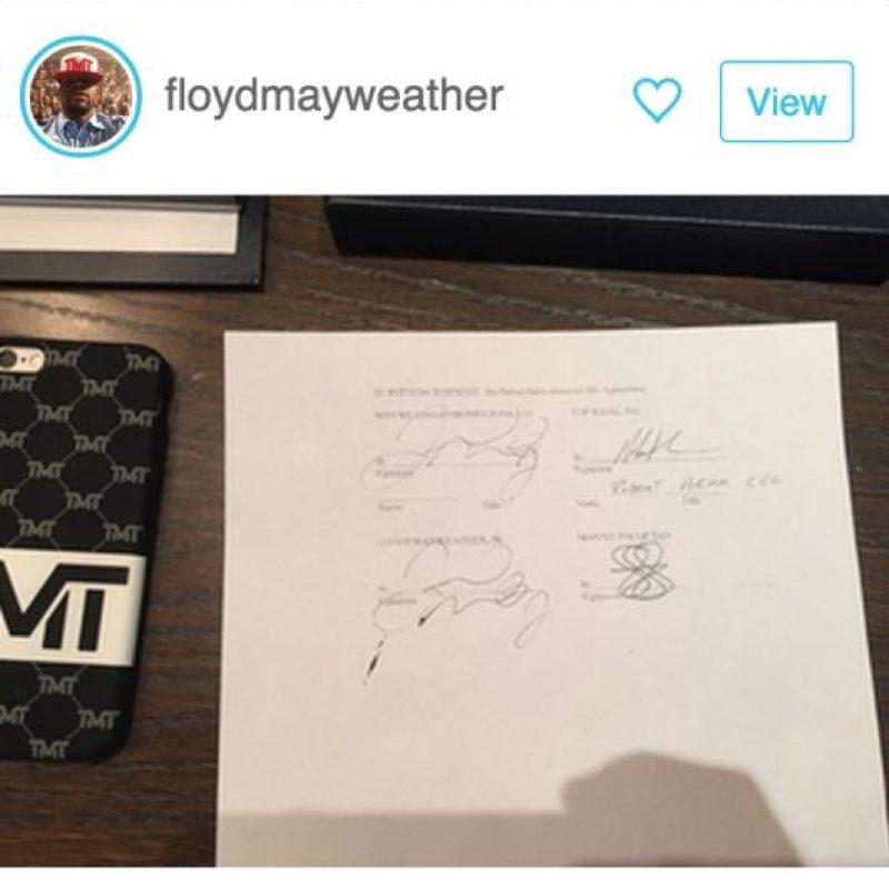 """""""Money"""" anunció en las redes sociales que la pelea se llevará a cabo el 2 de mayo Foto:Shot: floydmayweather"""