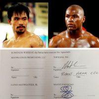 """""""Pacman"""" indicó que él ya había firmado antes que Mayweather Foto:Instagram: @emmanuelpacquiao"""