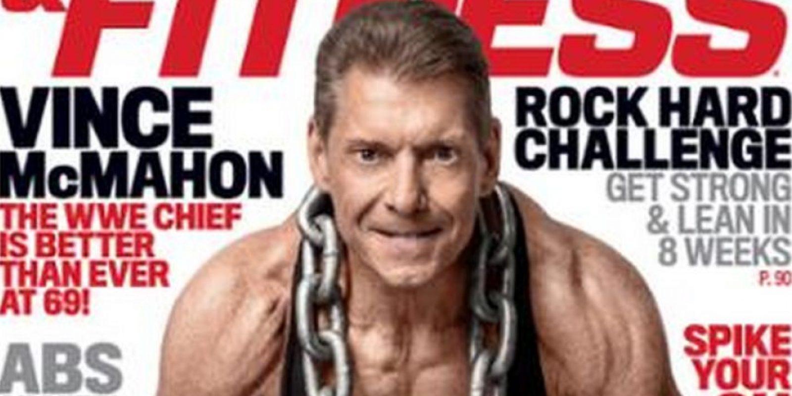 En la portado de Muscle & Fitness Foto:Twitter