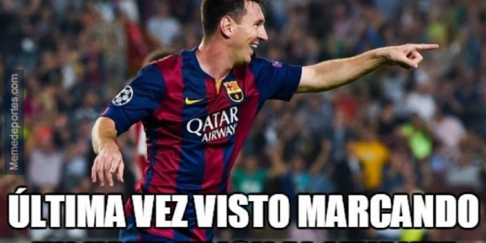 Los memes de Messi aparecieron en redes sociales. Foto:Twitter