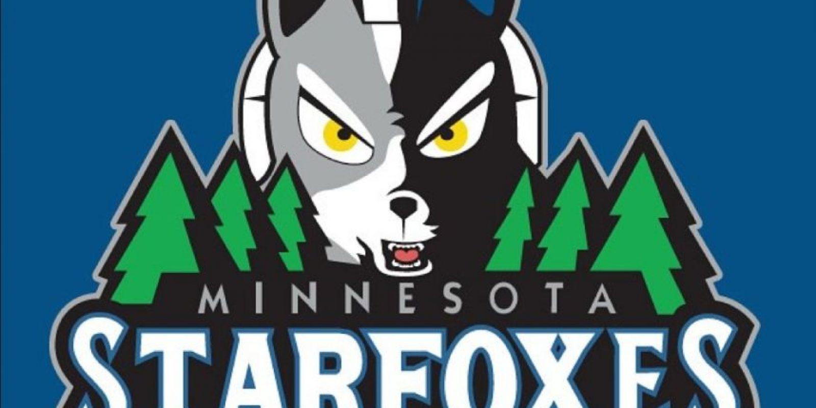 """""""Star Fox"""" en el logo de Minnesota Timberwolves. Foto:instagram.com/ak47_studios"""
