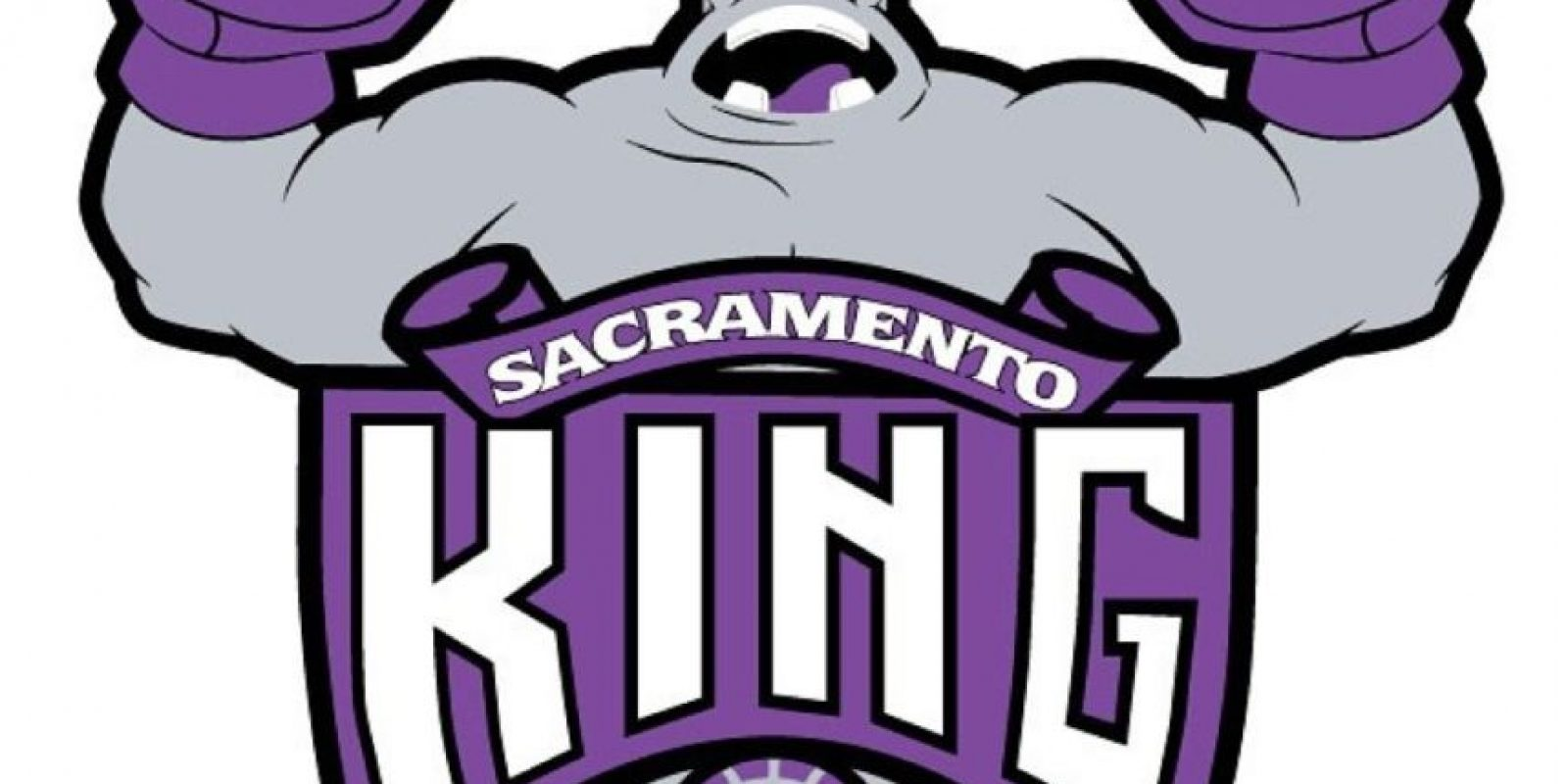"""King Hippo"" en el logo de Sacramento Kings. Foto:instagram.com/ak47_studios"