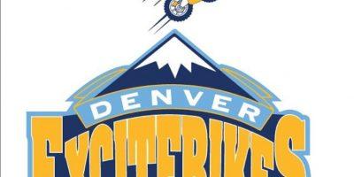 """""""Excitebike"""" en el logo de Denver Nuggets. Foto:instagram.com/ak47_studios"""
